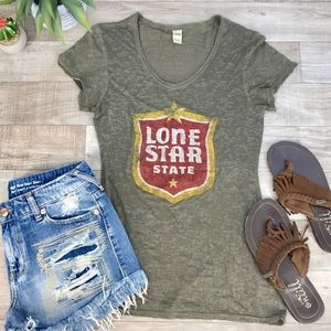 Tops - Kavio Lonestar v neck burnout size Lg